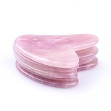 Nowy masaż z kamienia naturalnego Ice Rose masażer kwarcowy twarzy szyi terapii skrobak zdrowia masażer do pielęgnacji twarzy na kark i ciało Guasha tanie tanio CAMMUO CN (pochodzenie) Jedna jednostka Brak Pink Jade Green Quartz