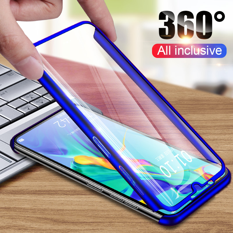 360 Degree Full <font><b>Case</b></font> For Huawei Y5 Y6 Y7 Pro Y9 Prime 2018 2019 <font><b>Case</b></font> for <font><b>Honor</b></font> 5X 6X 7 7C 7X 8 8A 8X 9 9X 10 10i 20 <font><b>20i</b></font> Cover image