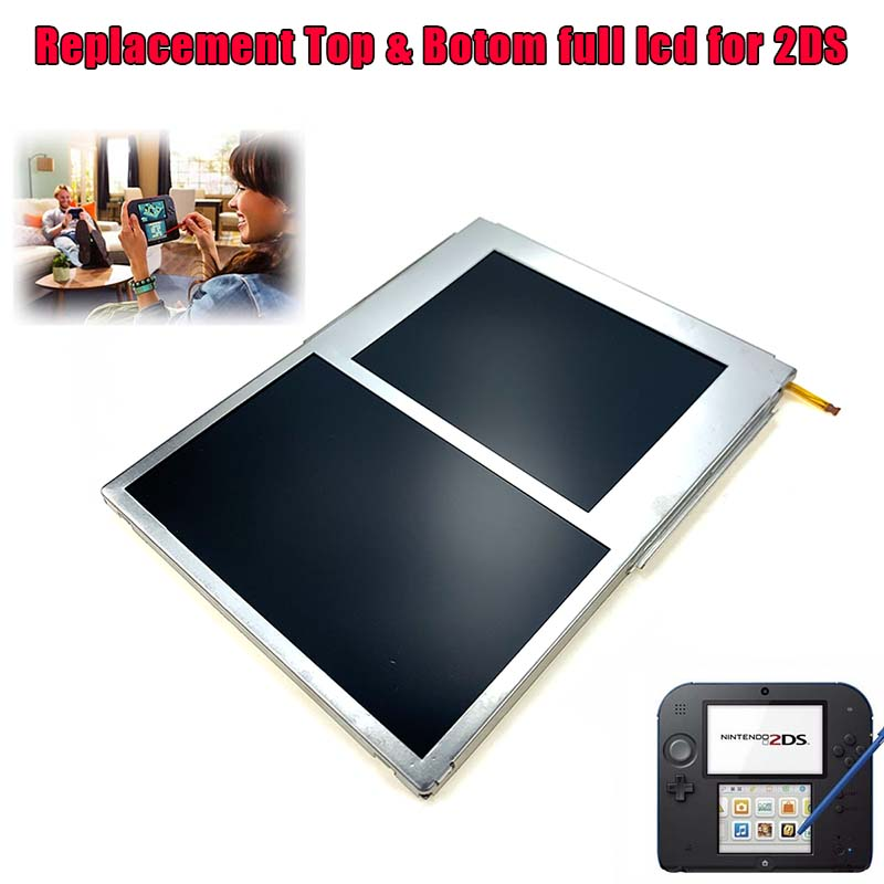 Replacement Screen For 2DS LCD Screen Display Top And Bottom Replacement Part For 2DS ORIGINAL No Defective Pixel