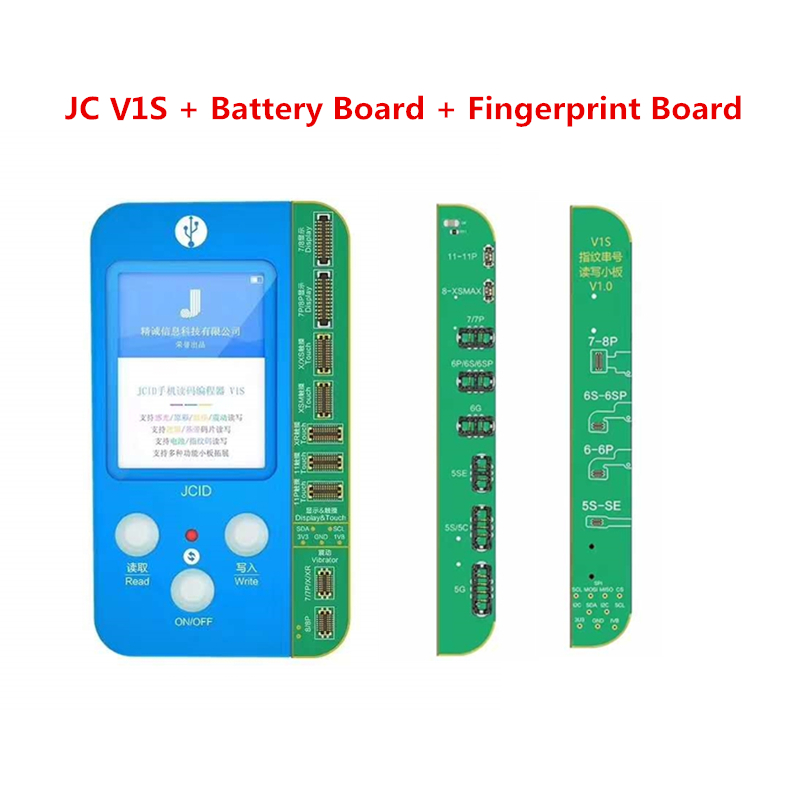 JC Pro1000S V1S For 7 7P 8 8P X XR XS XS MAX 11 Pro MAX Photosensitive Original Color Touch Shock Fingerprint Battery Programmer