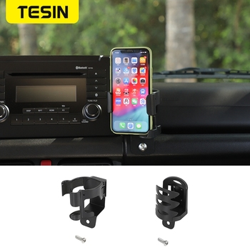 Phone Holder Stand Carrier GPS Cellphone Mount Bracket Cup Holders For Suzuki Jimny 2019 2020 ABS Black Car Interior Accessories image