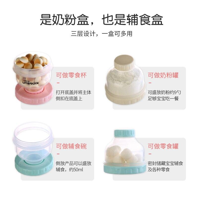 Infant Small Milk Box Portable Nursing Plastic Bottle Transparent Sealed Jar Packing Small Mini Rice Flour Lattice