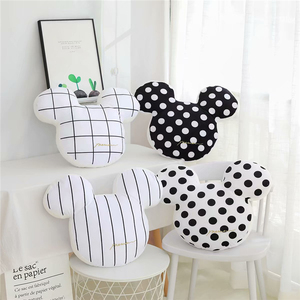 1PC New 48cm Classic Cartoon Mickey Mouse Ma Caron Color Plush Toys Stuffed Pillow Kids Children's Gift birthday present(China)