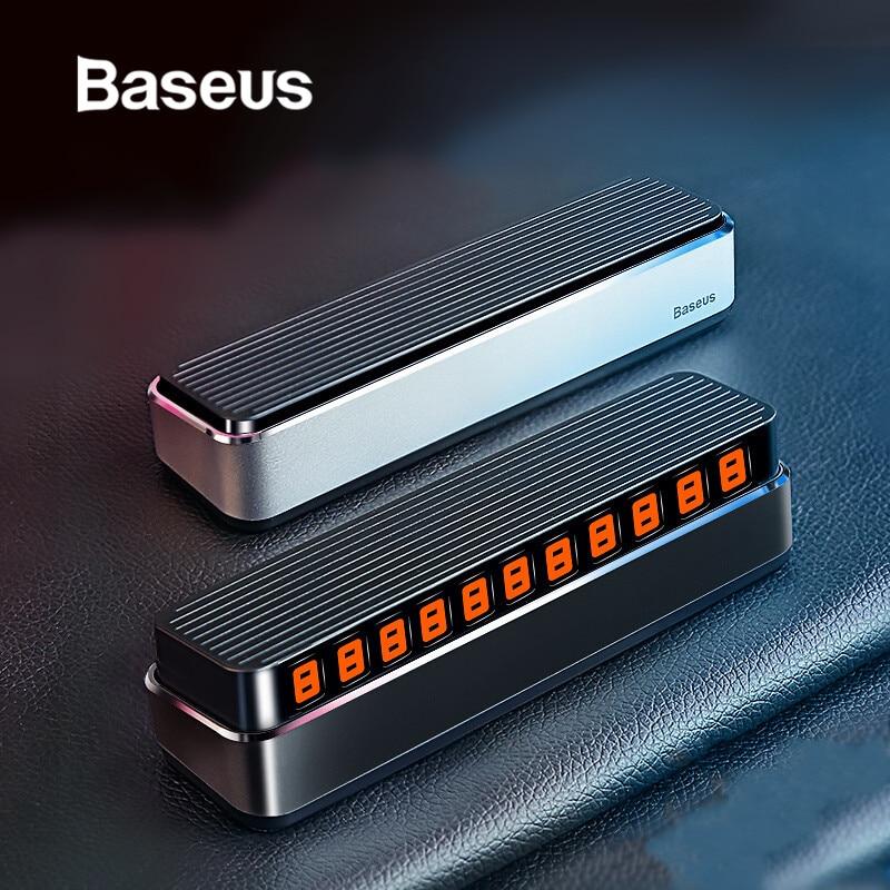 Baseus Автомобильная Временная парковочная карта держатель телефонного номера Авто Парк номер мобильного телефона пластина номера автомобиля наклейки