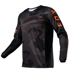 Image 1 - 2020 Mens Downhill Jerseys hpit fox Mountain Bike MTB Shirts Offroad DH Motorcycle Jersey Motocross Sportwear Clothing FXR bike