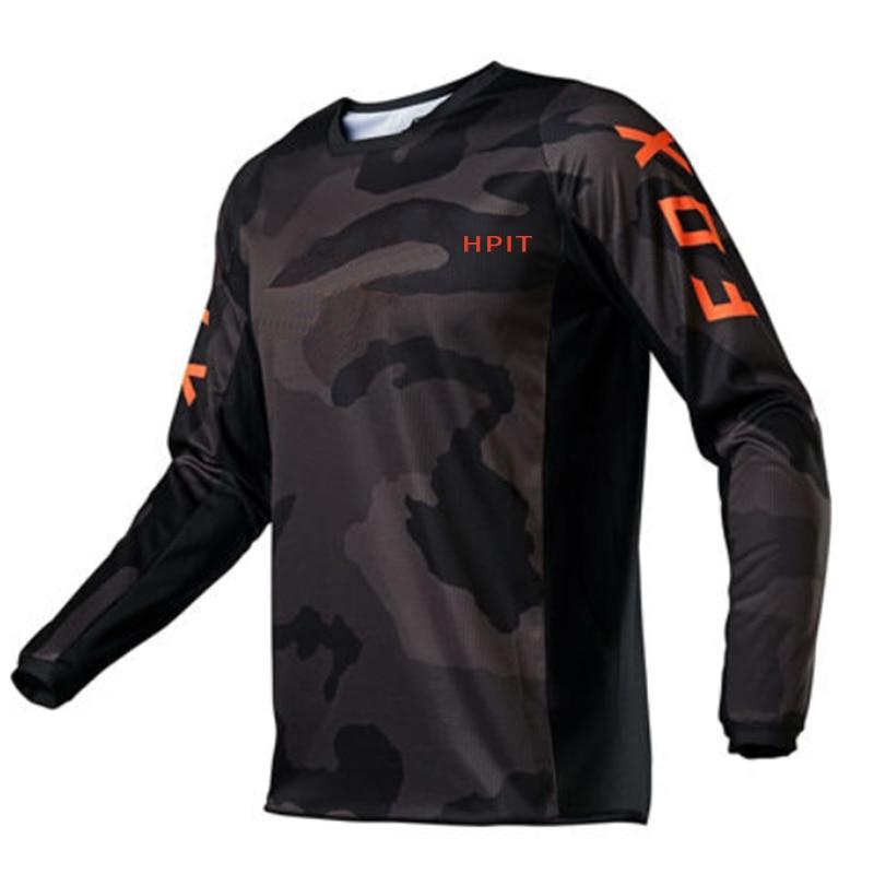2021 Men's Downhill Jerseys Hpit Fox Mountain Bike MTB Shirts Offroad DH Motorcycle Jersey Motocross Sportwear Racing Bike