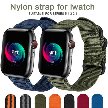 цена на Hot Sell Nylon Watchband for Apple Watch Band Series 5 4 3 21 Sport  Bracelet accessories 42 mm 38 mm 40mm 44mm Strap For iwatch