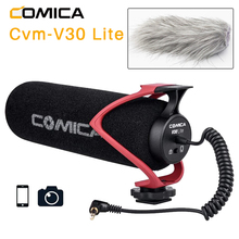 Comica CVM V30 LITE  Video Microphone Super Cardioid Condenser On Camera Shotgun Microphone for Nikon Canon Sony iPhone Huawei