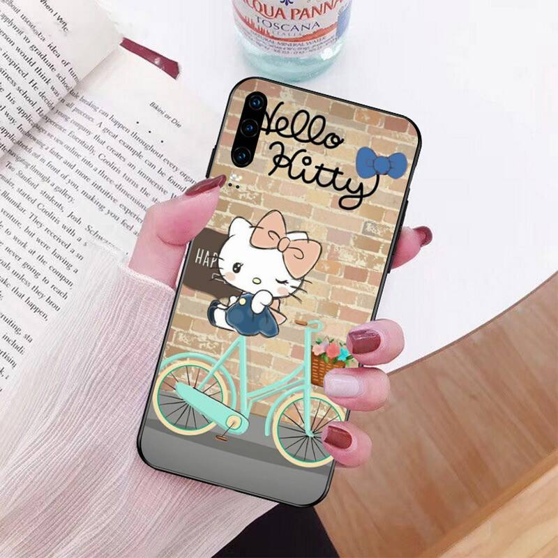 Cartoon Cat Hello Kitty Newly Arrived Black Cell Phone Case For Huawei P40 P30 P20 Lite Pro Mate 20 Pro P Smart 2019 Prime