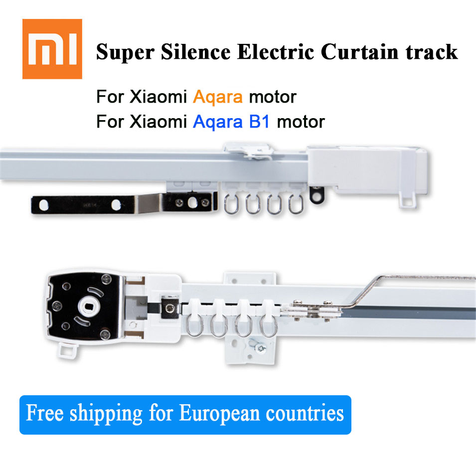 Customizable Super Quite Electric Curtain Track For Xiaomi Aqara /Dooya KT82/DT82 Motor  For Smart Home