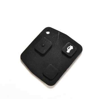 New Replacement 3 Button Rubber Remote Pad For Toyota Avensis Corolla Lexus Rav4 3 Button Remote Key Fob image