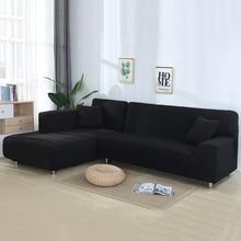 2 Pcs Covers for Corner Sofa L Shaped Sofa Living Room Sectional Chaise Longue Sofa Slipcover Corner Sofa Covers Stretch leather sofa living room corner sofa set 6 pcs