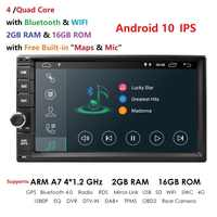2 Din 7 ''Quad core Android Universale 10 2GB di RAM Car Radio Stereo GPS di Navigazione WiFi 1024*600 Touch Screen 2din Car multimedia