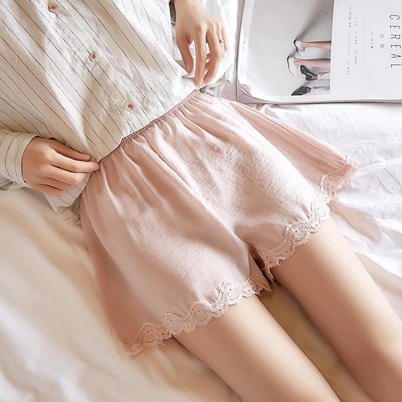 Lace Shorts Women Silk Short Summer Sexy Solid Leggin Knicker Panties  Shorts Boxer Brief Under Skirt Shorty Hc