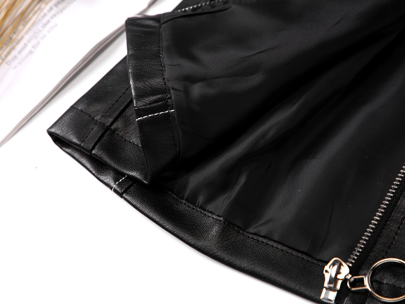 Kids Leather Skirts for Spring Girls Casual Mini PU Leather Skirt Teenager Girl Faux Leather Skirt for Autumn Children 110-160cm 6