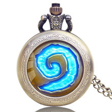 Antique Quartz Pocket Watch world of warcraft Women Men Watches Necklace Pendant with Chain Fob Clocks Male Gifts cep saati