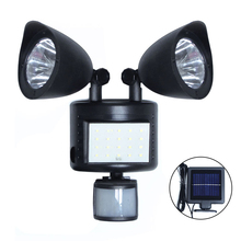 Binval 42 LEDs Solar Led Lamp 2 Head Body Motion Sensor Outdoor Lights For Garden Patio Courtyard Decoration Street Wall Lights