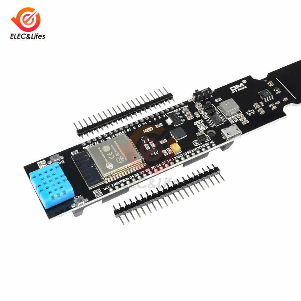 ESP32 DHT11 WIFI Bluetooth Temperatuur Vochtigheid Bodemvochtsensor Detectie Module18650 Batterij Shield voor Arduino Nodumcu