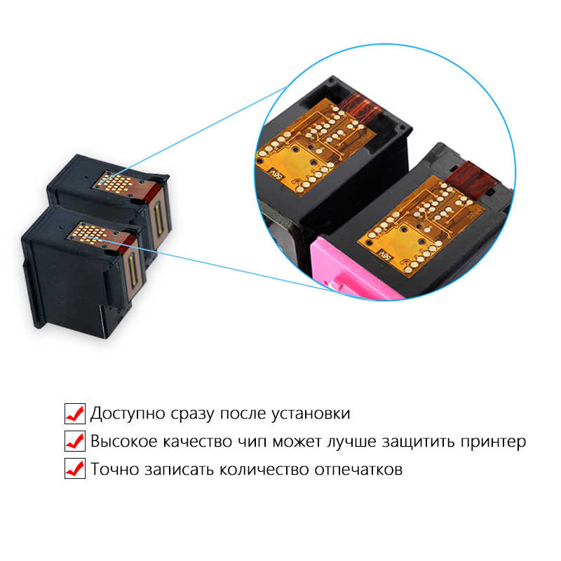 DMYON 122 System stałego zasilania atramentem kompatybilny do HP 122 Deskjet 1000 1050 2000 2050 3000 3050A 3052A 4500 5530 4630 drukarki