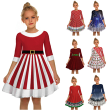 Newest Christmas Dress Girls Princess Dress Elegant Snowman