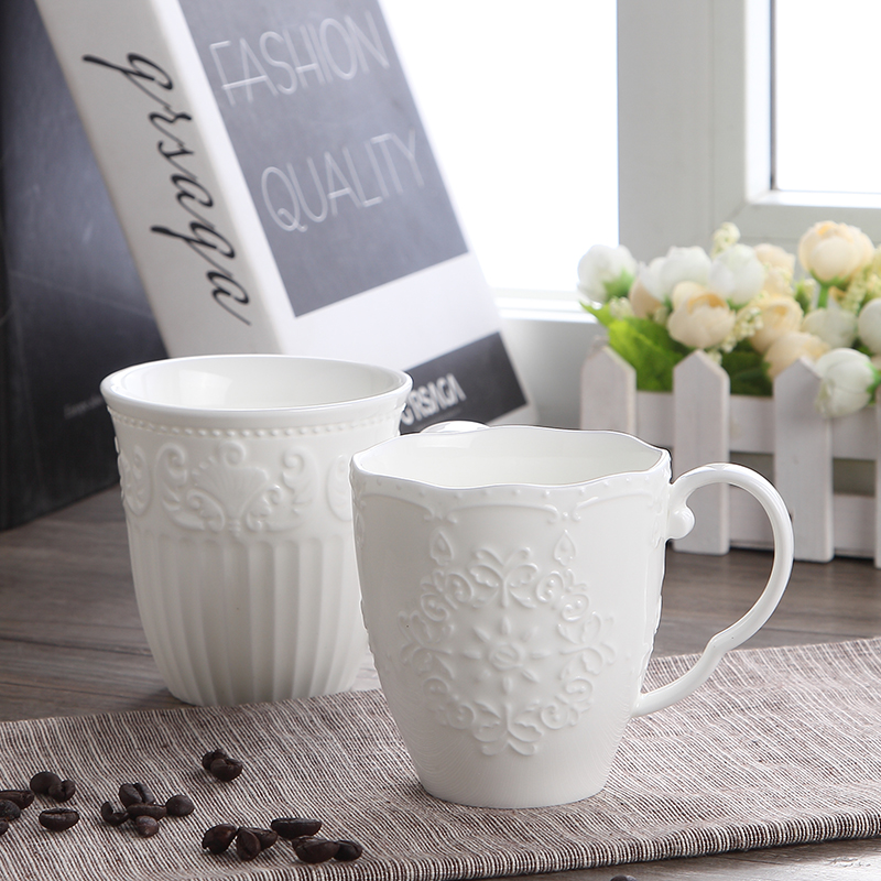 300ml, white embossed porcelain cute snow mugs, copo cafe nespresso cup, ceramic funny mugs christmas gift, taza para cafe cup