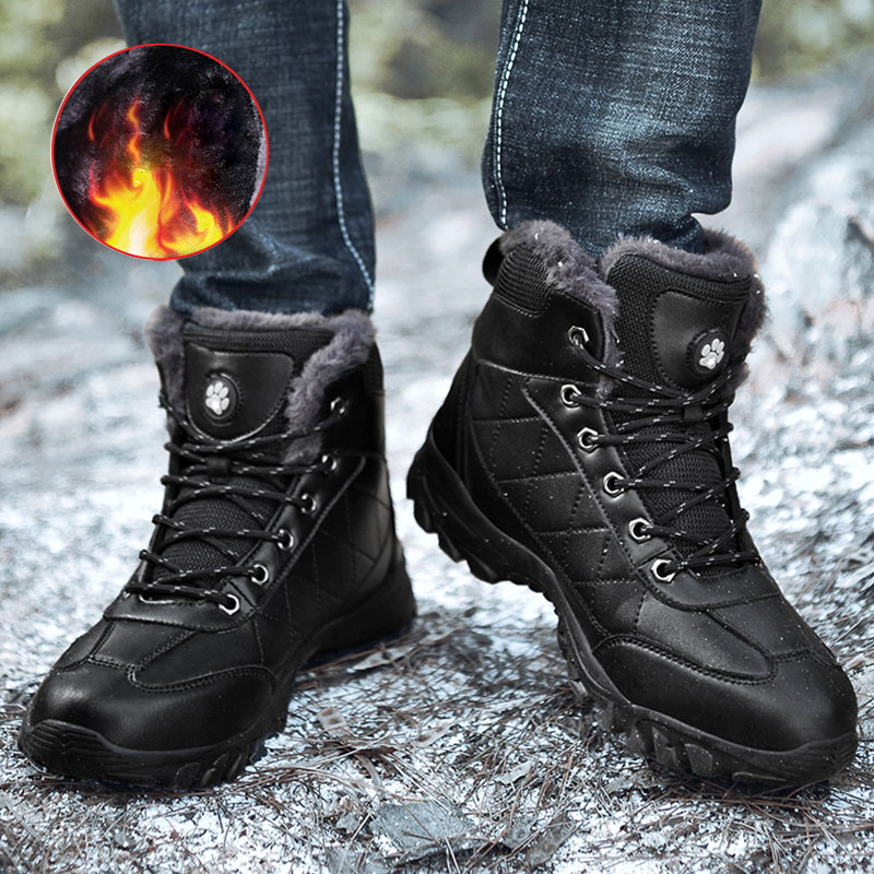 Men Hiking Shoes Snow-Boots Outdoor Sport Winter Plush 48 Warm Ankle Quality