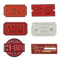 Коллекция билетов Hell adlide One 666 кино красная эмаль броши значки нагрудные знаки Броши для женщин женские ювелирные изделия аксессуары
