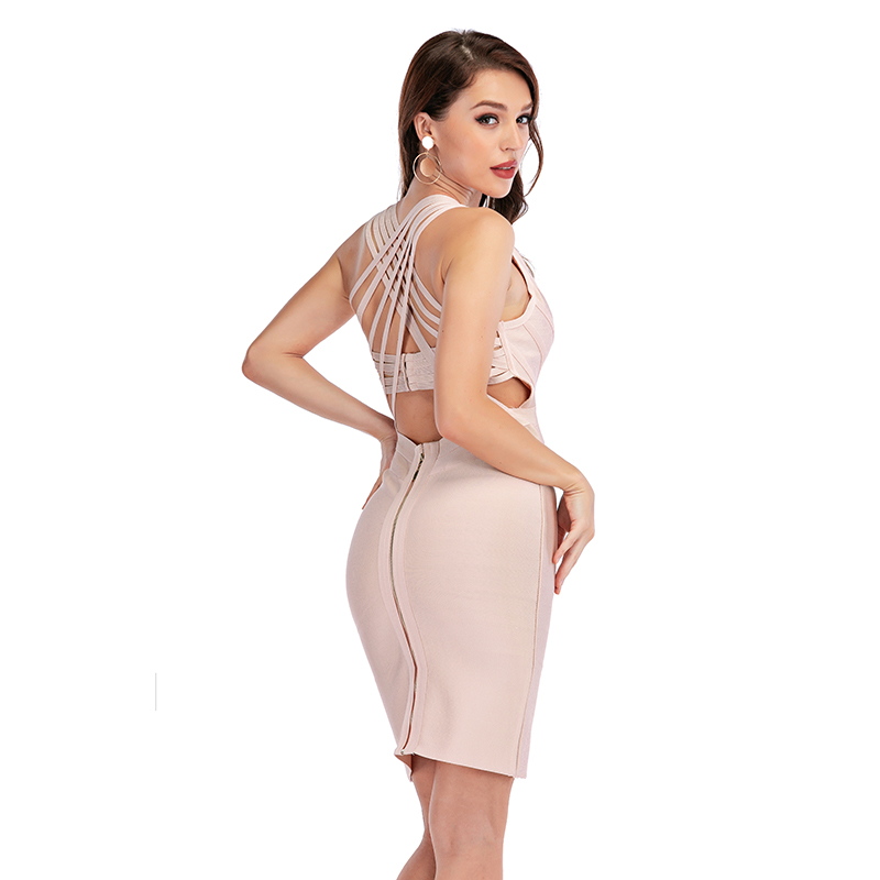 Sleeveless Criss-cross Bodycon Bandage Dress
