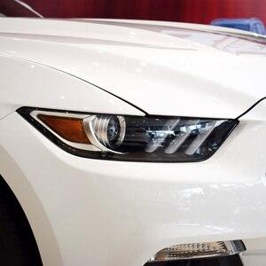 Image 2 - Lente de faro para Ford Mustang, cubierta de repuesto transparente para faro delantero de coche Ford Mustang 2014 2015 2016 2017