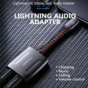 Image 4 - Mcdodo Aux Audio Adapter OTG Lightning To 3.5mm Jack Call Audio Earphone Converter Splitter for iPhone 11 Pro X XR XS Max IOS 13