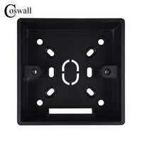Coswall 32mm Tiefe Schwarz Externe Montage Box 86mm * 86mm * 35mm für 86 Typ Schalter und Steckdosen Gelten Für Außerhalb der Wand Oberfläche