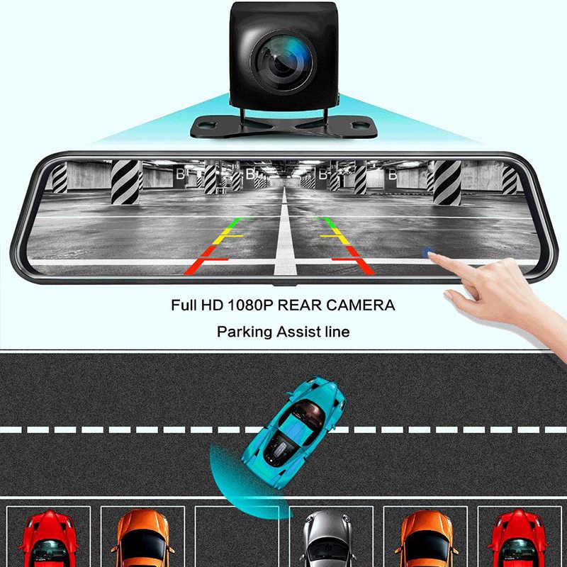 OLESED T95S, 10 дюймов, ips экран, Автомобильный видеорегистратор, зеркальная камера, видеорегистратор, двойной объектив, автомобильная камера, Full Hd, привод, рекордер, поток, зеркало заднего вида