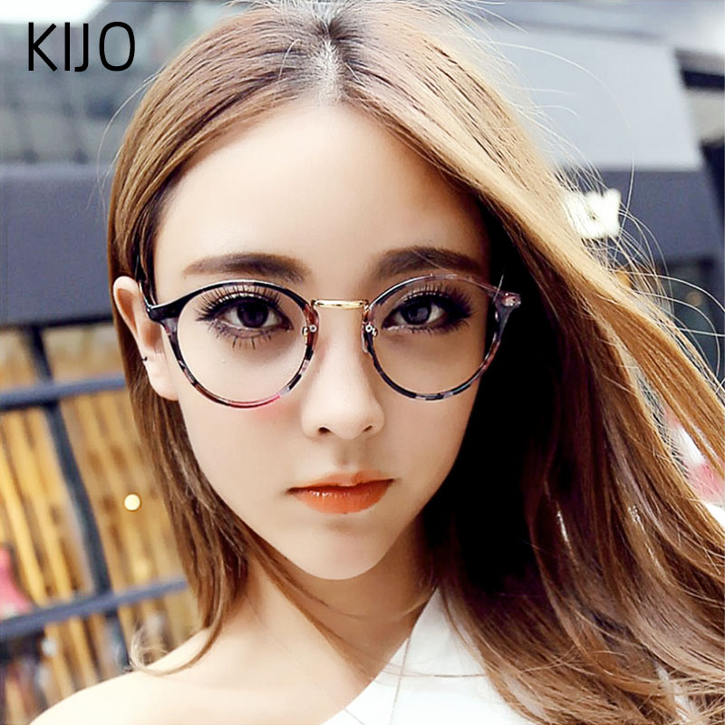 Fashion Transparent Round Glasses Clear Frame Women Spectacle Myopia Glasses Men EyeGlasses Frame Nerd Optical Frames Clear