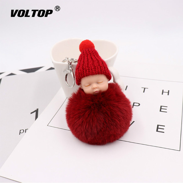 Sleeping Doll Girl Car Accessories Interior Dashboard Toys Christmas Car Decorations Ornaments Hairball Lovely Plush Pendant