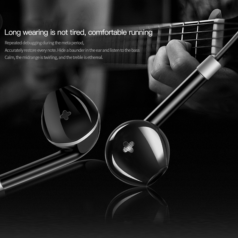 IKSNAIL Stereo Bass Earphone Headphone with Microphone Wired Gaming Headset for Apple Phones Samsung Xiaomi Iphone ear phone 2