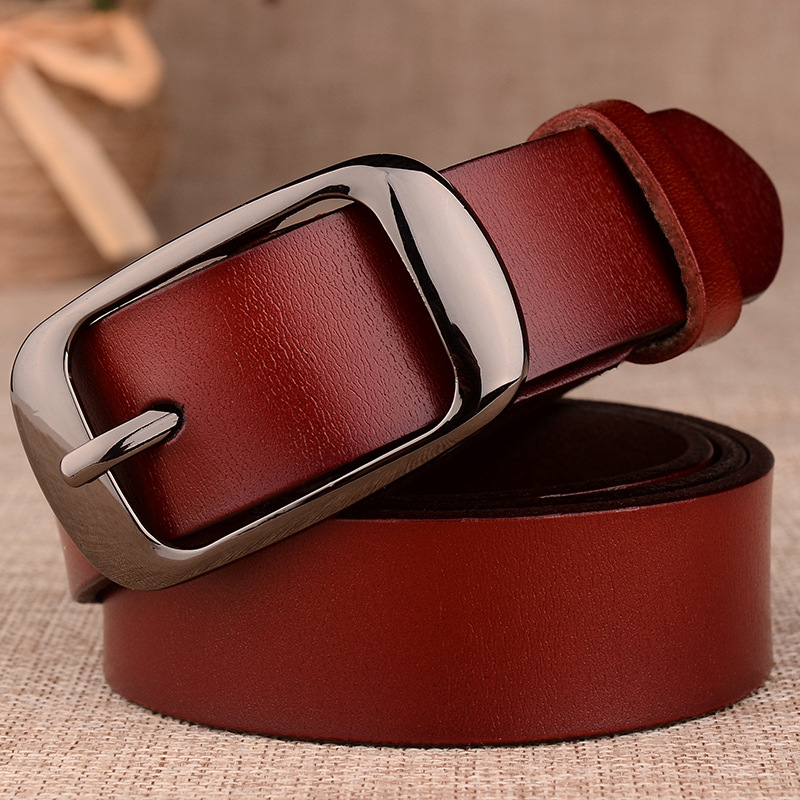 2020 Men Belts Luxury Men Leather Belt Cowskin Fashion Genuine Leather Buckle Waist High Quality Male Metal