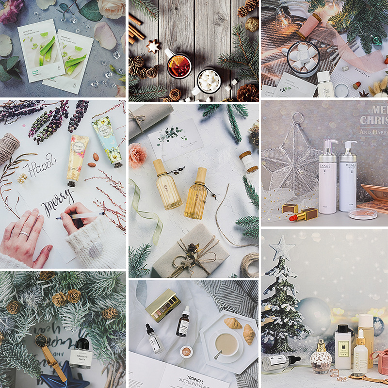 Photography Backdrops Material 2 Sided 3D Background Paper Board Photo Studio Shooting Props for Food Drink Cosmetic Jewelry