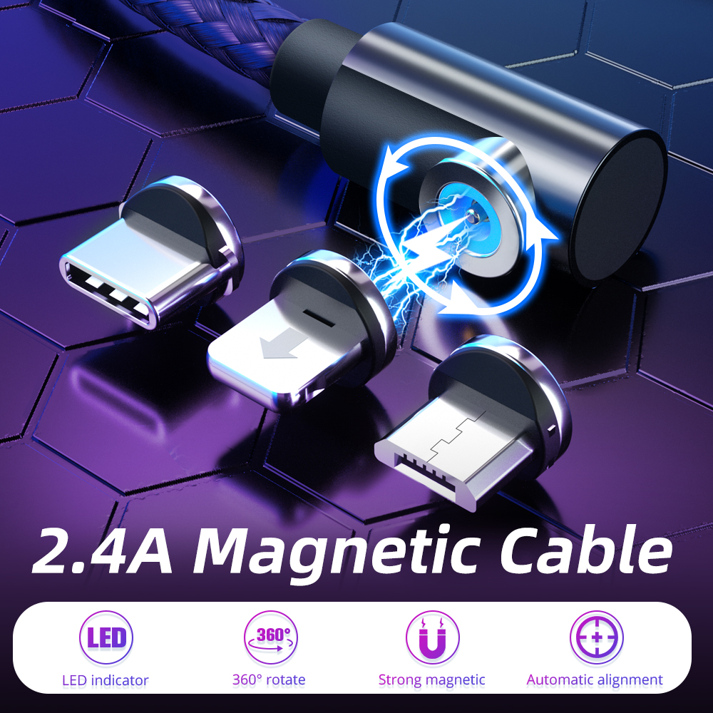 FONKEN Magnet Cable 90 Degree Magnetic Charger Cable Gaming Charging Cable Wire L Bend Type Phone Cable For Xiomi Huawei Samsung|Mobile Phone Cables|   - AliExpress