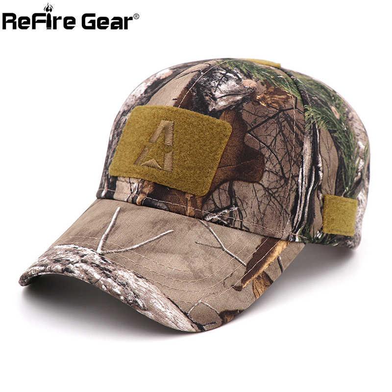Gorras de béisbol militares de camuflaje de Refire Gear para hombre, gorra de verano ajustable para Airsoft, gorra táctica para el sol, GORRA especial de camionero de operador