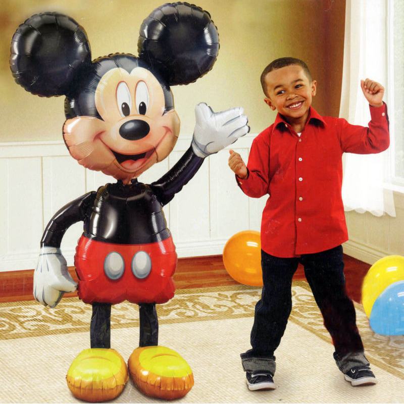 Mickey Minnie Mouse Folie Ballonnen 112 Cm Cartoon Kids Verjaardagsfeestje Decoratie Baby Shower Party Balons Speelgoed Globos
