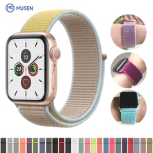 Band For Apple Watch Series 3/2/1 38MM 42MM Nylon Soft Breathable Replacement Strap Sport Loop for iwatch series 4 5 40MM 44MM nylon sport strap for iwatch 5 woven sport loop band for apple watch band 38mm 40mm for iwatch bands 42mm 44mm series 5 4 3 2 1