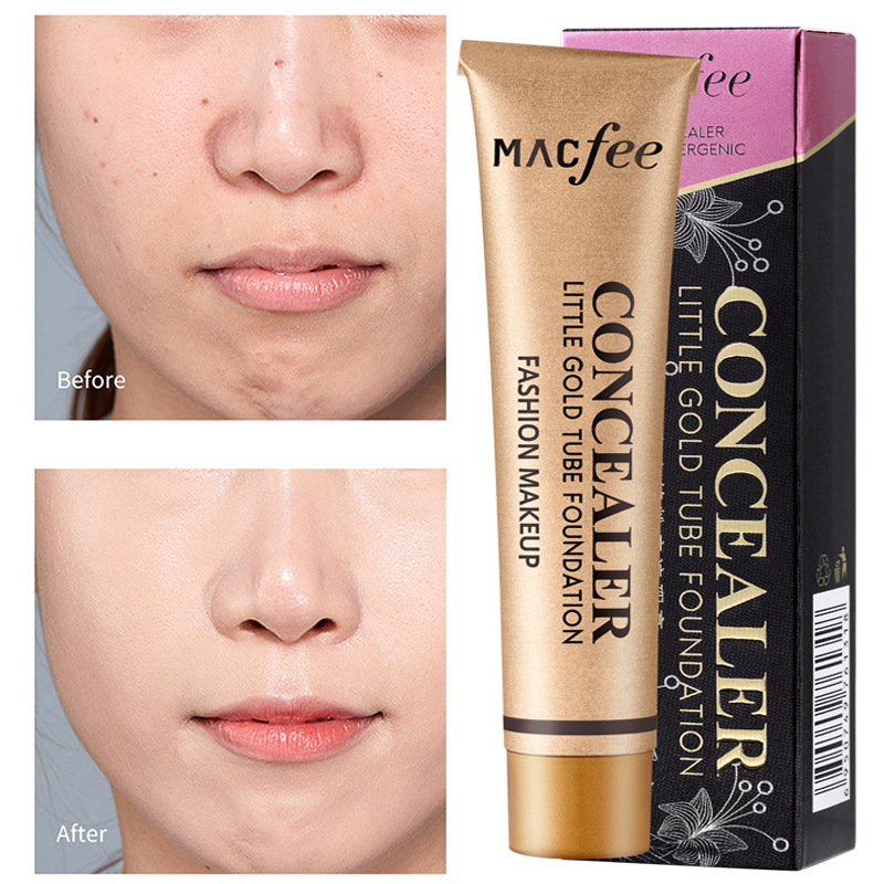 MACFEE 2 Colors Makeup Liquid Concealer Tube Contour Concealer Face Dark Eye Circle Cover Cream Cosmetics Woman Gift 2020 TSLM1 image