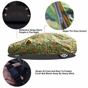 Image 3 - Kayme 방수 위장 자동차 커버 자동차 반사경에 대 한 야외 태양 보호 커버 먼지 비 눈 보호 suv 세 단 전체