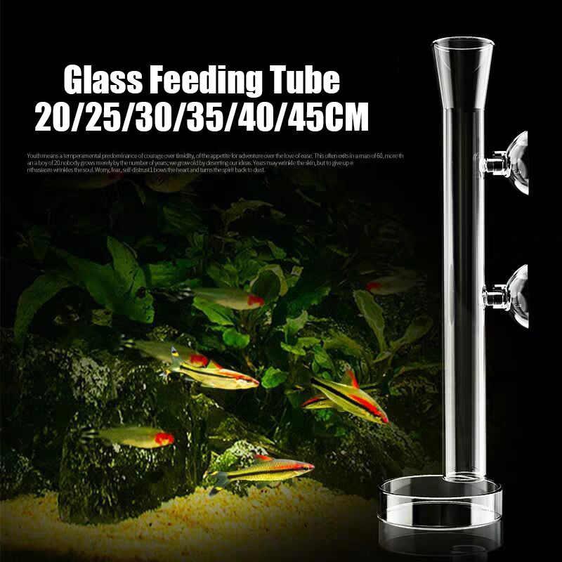 30cm with 2 Suction Cups Shrimp Feeding Tube for Fish Tank Aquarium Shrimp Fish niCWhite Acrylic Shrimp Feeder Tube Feeding Dish Tray