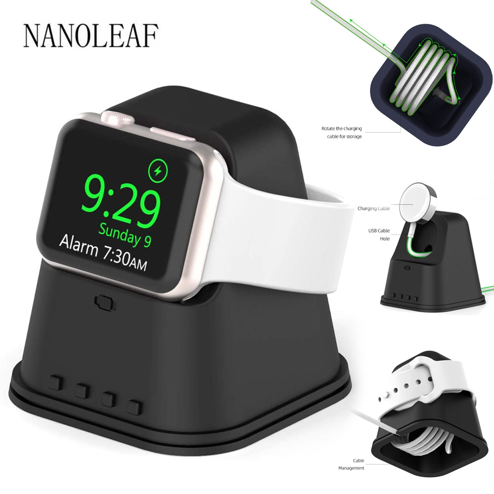 Silicone Charging Dock for Apple Watch 38MM 42MM 42MM 44MM Charge Cable Management for iWatch Series 6 5 4 3 2 1 SE Watch Holder