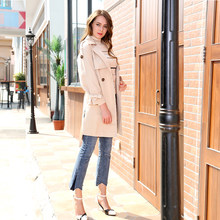 2019 New Korean Edition Self-cultivation Embroidery Overcoat Receiving Waist Coat Women's Dress in Spring and Autumn MX17C7311(China)