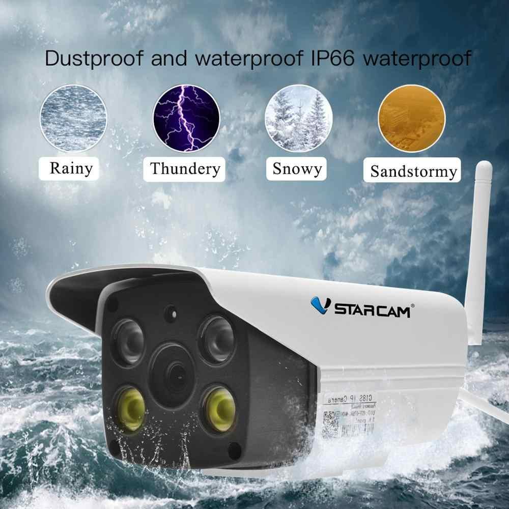 Vstarcam 1080P واي فاي كاميرا CCTV مقاوم للماء في الهواء الطلق كامل اللون للرؤية الليلية كاميرا الأمن الأشعة تحت الحمراء كاميرا بولت المدمج في هيئة التصنيع العسكري
