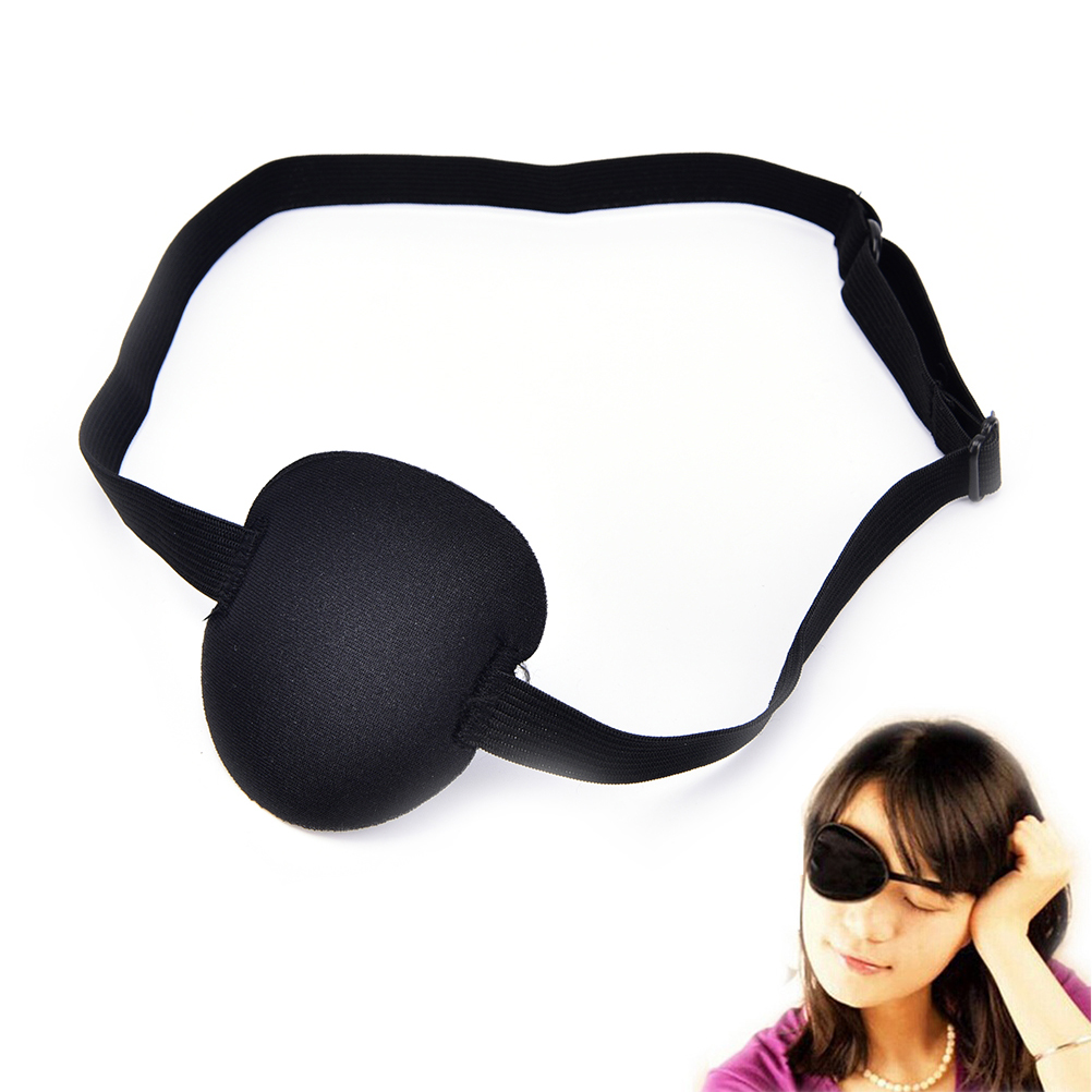 1Pc Black Washable Party Masks Funny Medical Use Concave Eye Patch 3D Foam Groove Eyeshades For Lazy Eye Toy