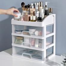 New Makeup Organizer Creative Storage Box  Home Decor Make Up Organizer Box Cosmetic Storage Large Drawer Organizador Container