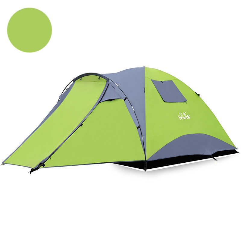 3-4Person Ultra-Léger Camping En Plein Air Tente Double Couche 4 Saisons Imperméable Tentes Légères pour Voyage Randonnée Pêche Chasse